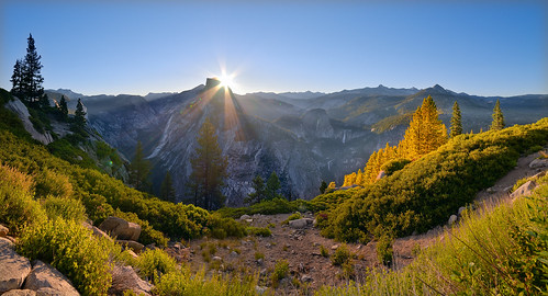 california light panorama color nature sunrise landscape nikon adventure journey yosemite halfdome yosemitenationalpark glacierpoint easternsierras cloudsrest sunstar