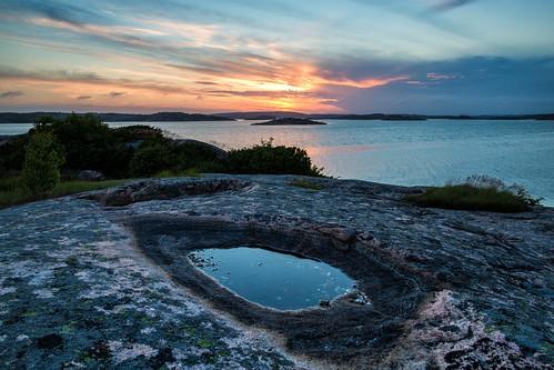 sunset summer sweden sverige polarizer bohuslän solnedgång västkusten klippor erken västragötalandslän canonef24mmf14liiusm canoneos5dmarkiii långesjö