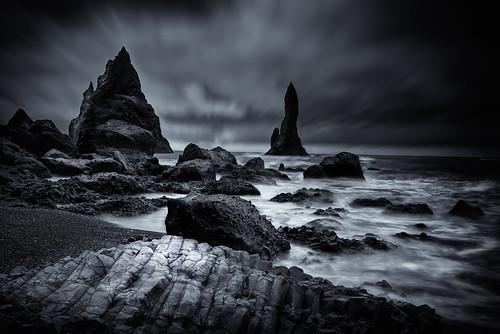voyage longexposure trip sunset sea bw mer beach water blacksand blackwhite iceland nikon eau noiretblanc cloudy vik plage hdr islande 2014 d600 suðurland poselongue sablenoir nikond600 2470mmf28g nikon2470mmf28g guilhemlascaux