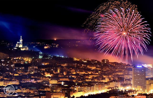 Marseille, National day fireworks 2014