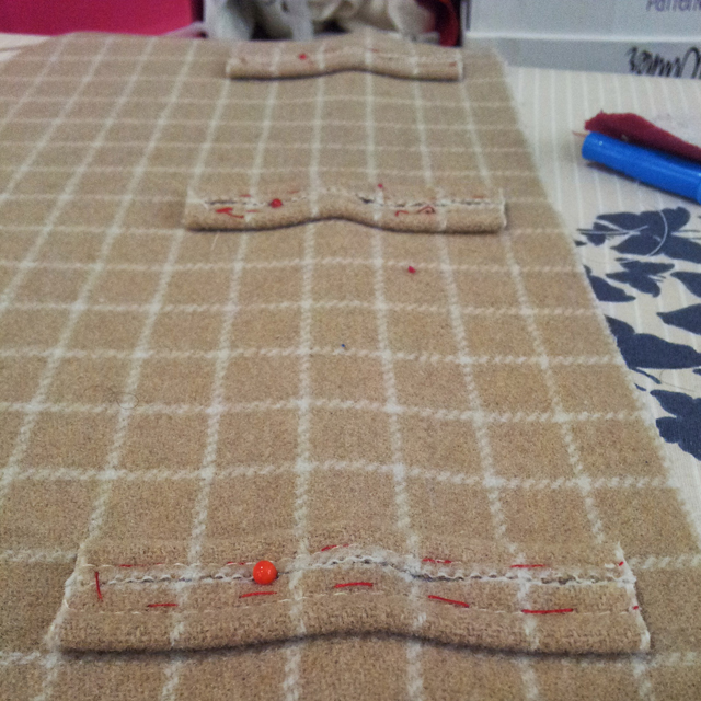 lined up buttonholes