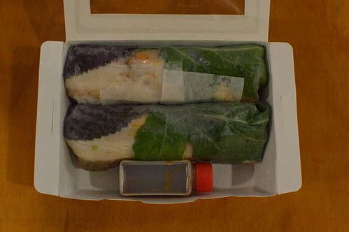 Miss Chu Tuckshop: Pork & pate rice paper rolls