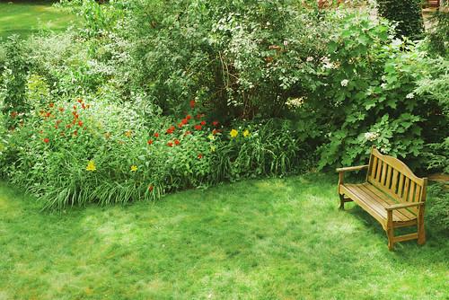 Flower bed.