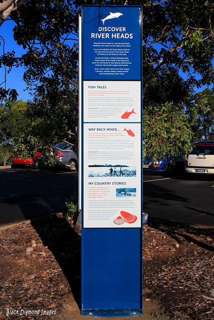 Discover River Heads, Fish Tales & Historical Information Interpretive Sign, River Heads Carpark, River Heads, Hervey Bay, SE Queensland