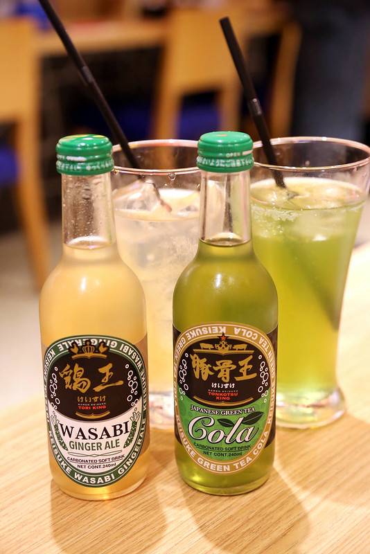 Green Tea Cola and Wasabi Ginger Ale