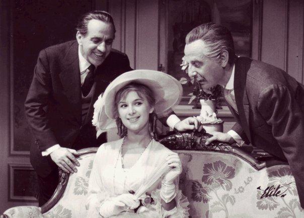 Κώστας Μουσούρης, Αλίκη Βουγιουκλάκη & Σταύρος Ξενίδης - «Ωραία μου κυριά» στο θέατρο Μουσούρη, 1958