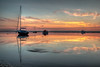 Meols sunset reflections