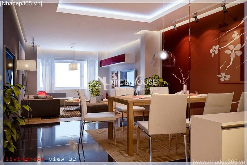 Thiết kế nội thất căn hộ chị Lan - Hà Nội_3
