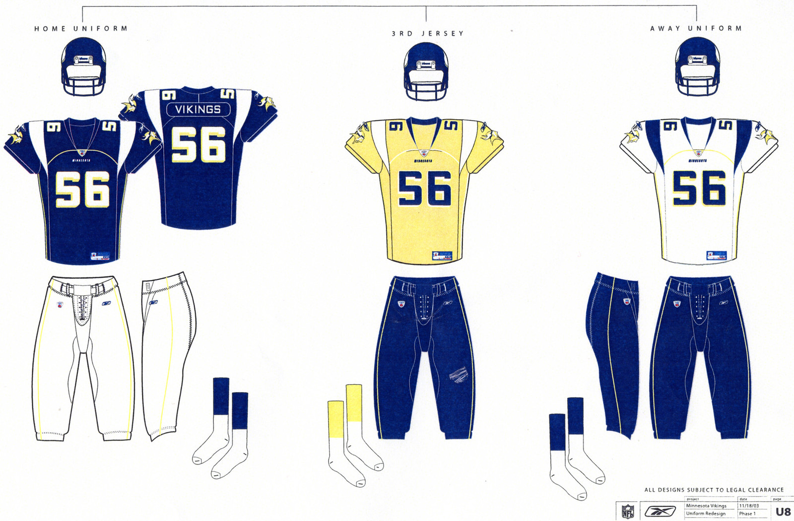 Minnesota Vikings rejected these uniform designs Uni Watch