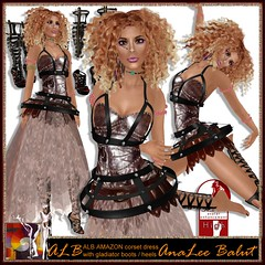 ALB AMAZON dress outfit + gladiator boots + heels by AnaLee Balut - ALB DREAM FASHION