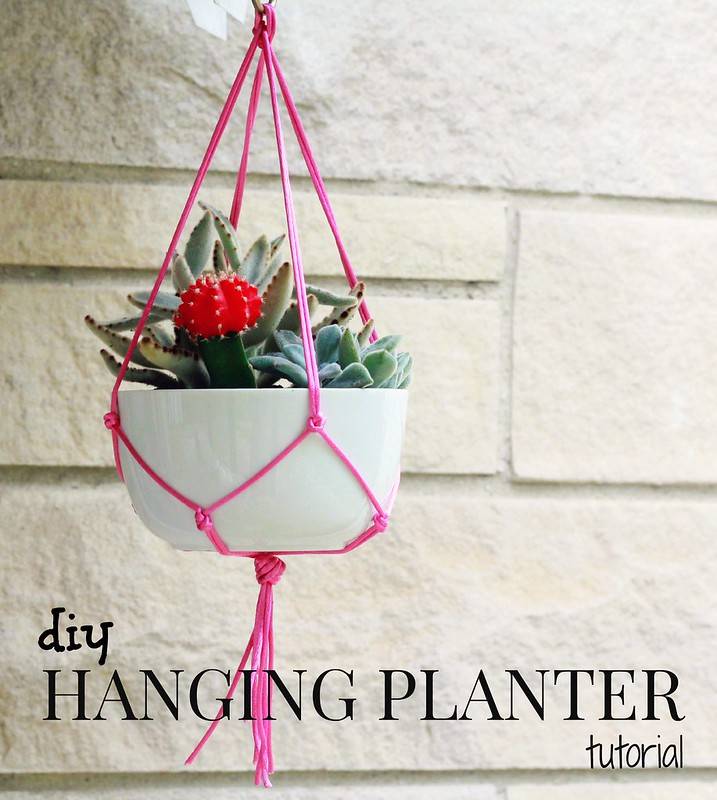 how to make a diy hanging planter tutorial via Kristina J blog