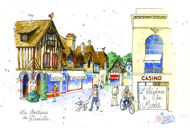 Illustrations pour Marie Claire Russie Mai 2014 - Deauville