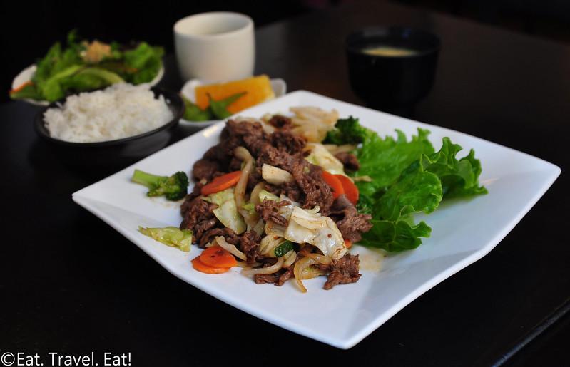 Sagami- Irvine, CA: Yakiniku Beef  Entree