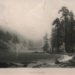 GC238 Albert Bierstadt; Mount Corcoran; 1887; Engraving - From The Graham and Barbara Curtis Collection