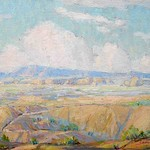 Collection of Tracy & Sushe Felix; Untitled Landscape_ Charles Bunnell_ 1927_ oil on panel_ 12_x16_ -