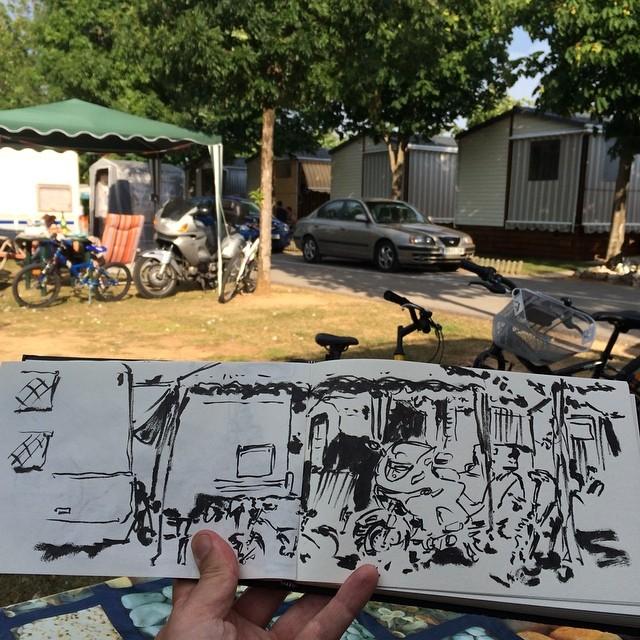 #campingiratxe #pentel #urbansketch