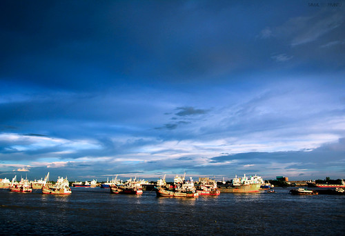 sunset dusk ships riverview