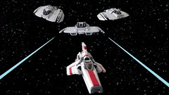 Battlestar Galactice: Cylon Raiders vs Viper
