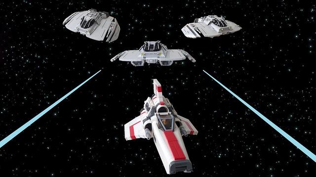 Battlestar Galactice: Cylon Raiders vs Viper