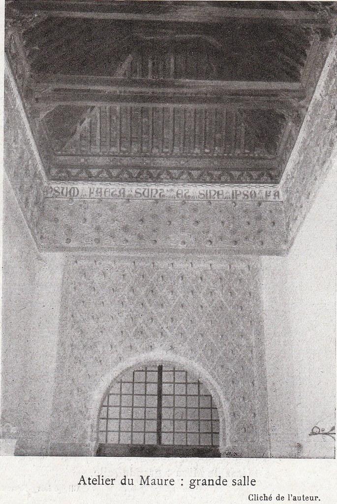 Taller del Moro a comienzos del siglo XX. Fotografía de Élie Lambert publicada en su libro Les Villes d´Art Célebres: Tolède (1925)