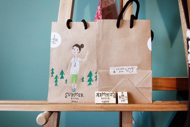 畫紙袋-小學校市集