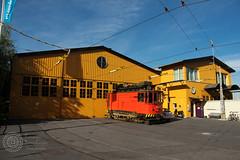Tranvia de trabajo de Estocolmo Antiguo
