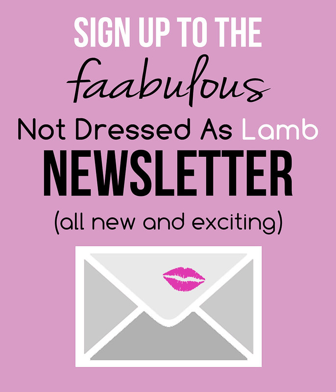 Not Dressed As Lamb newsletter sign up