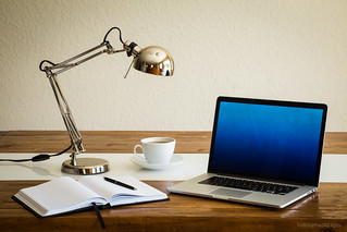 Organized work desk