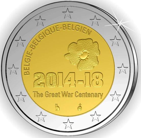 2 Euro Belgicko 2014, 1. svetová vojna