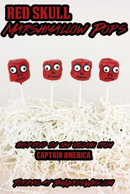 Red Skull Marshmallow Pops