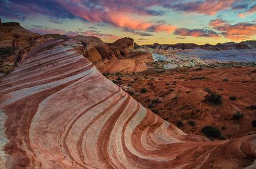longexposure sunset summer sky valleyoffire clouds sandstone rocks stripes nevada formations valleyoffirestatepark firewave 148 4150 nikond7000 richgreenephotographycom