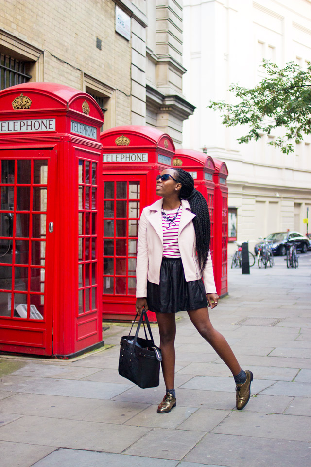 Old red telephone boxes in Covent Garden London