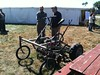 bicycle cultivator from tim at green tractor farm, farmhack