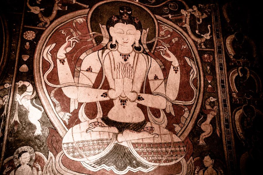 Фрески Алчи Гомпы. Монастыри Ладакха (Монастыри малого Тибета) © Kartzon Dream - авторские путешествия, авторские туры в Ладакх, тревел фото, тревел видео, фототуры