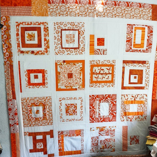 An actual #ALYoF  finish of my own. Love these #beeblocks from a group from years ago.  Come link up your own 'A Lovely Year of Finishes' with @sewbittersweetdesigns and me