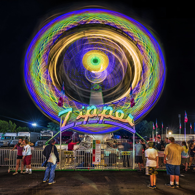minnesota state fair - long exposure - midway carnival ride