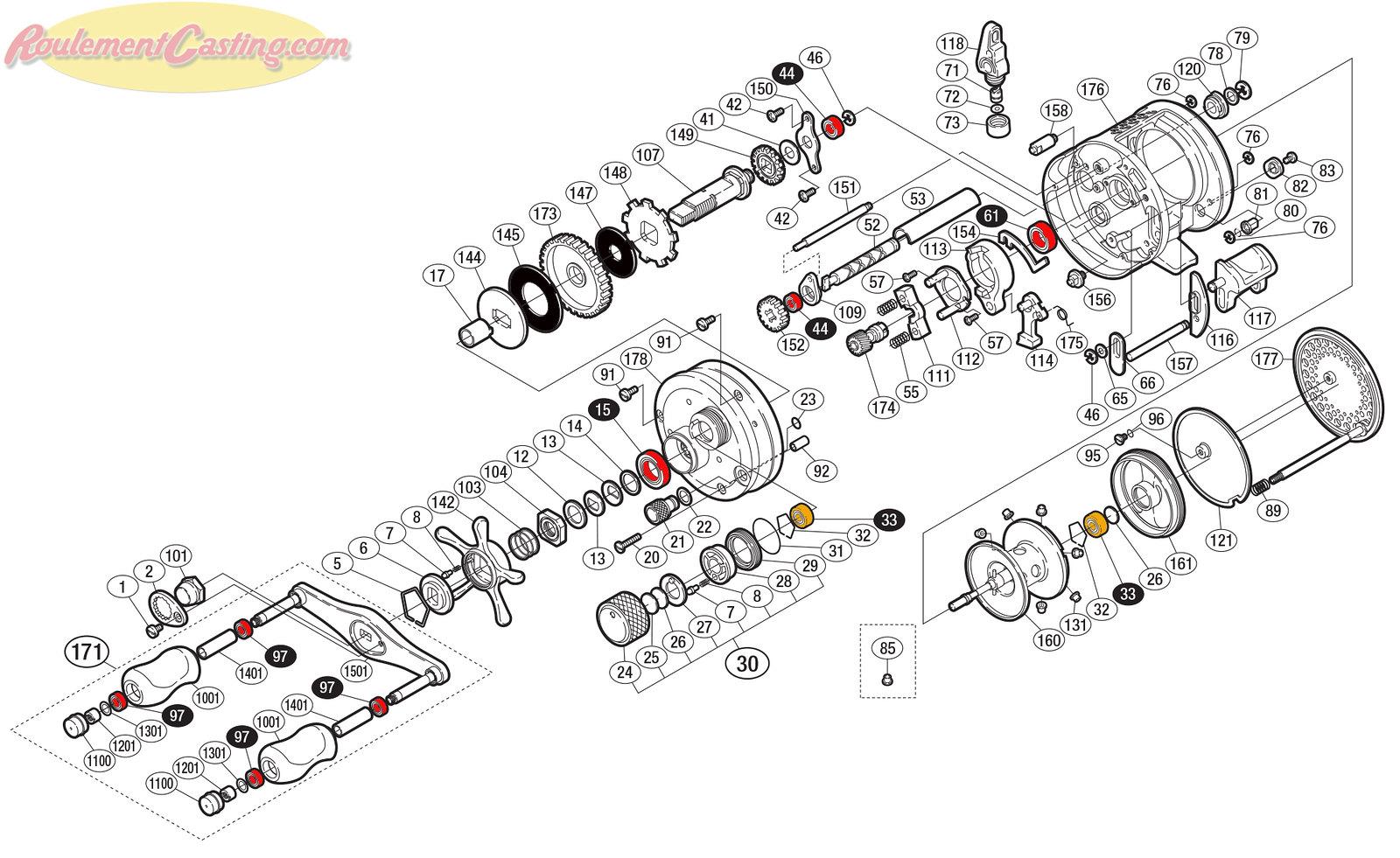Schéma Shimano Conquest 01' 101