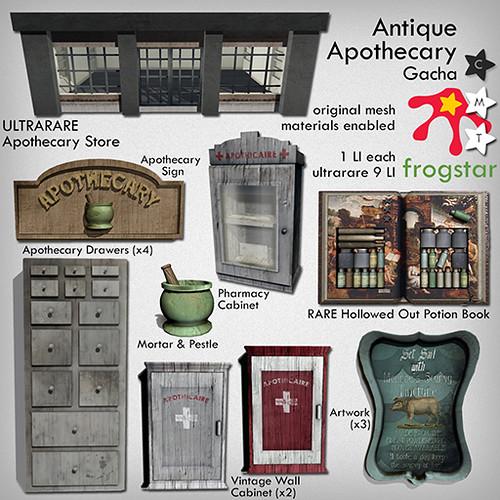 Frogstar - Antique Apothecary Gacha Poster