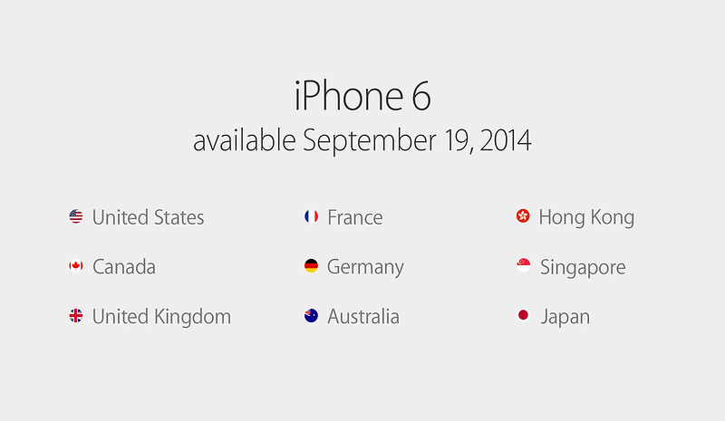 iPhone 6 & iPhone 6 Plus - Available On 19th September 2014