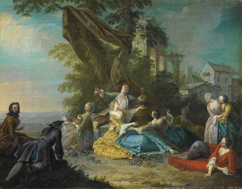 Sebastien Jacques Leclerc - Scene Galante (c.1740)