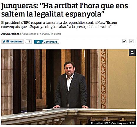 14i14 ara Junqueras Ha llegado el momento de saltarse la legalidad española