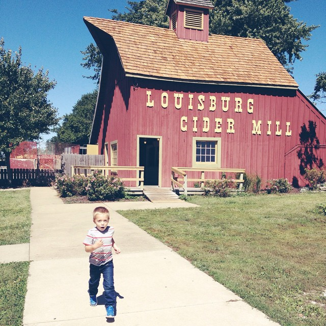They just dumped a giant crate of apples into the mill and it was AMAZING! #louisburgcidermill #kansas #fall #apples
