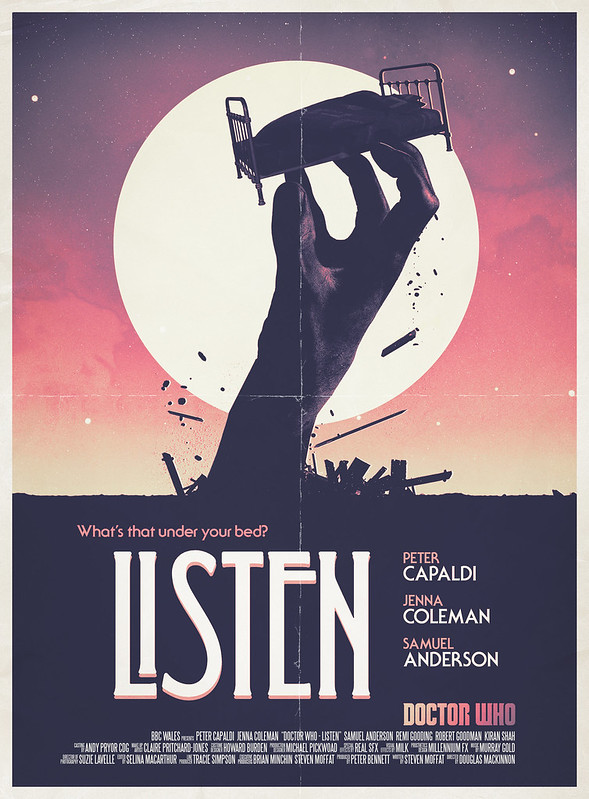 Doctor Who: Listen Retro Poster