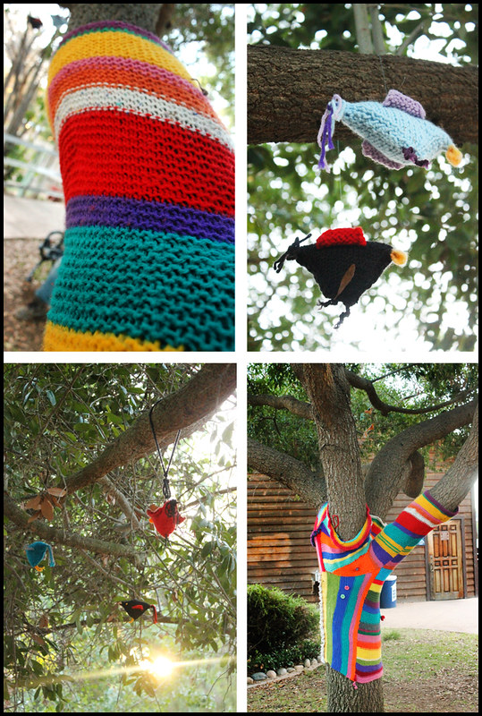 Yarn Bomb Old Poway Park