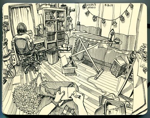Linda's studio