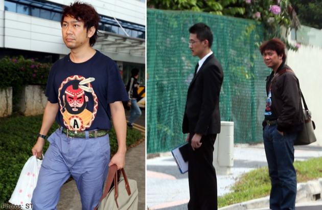 Nice tee-shirt, nice belt, nice pants, nice jacket, nice hairdo and nice plastic bag. They all go very well together.