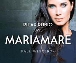 Pilar Rubio loves Maria Mare. Fall Winter 2014