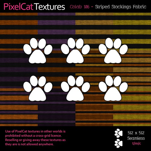 PixelCat Textures - Colab 106 - Striped Stockings Fabric