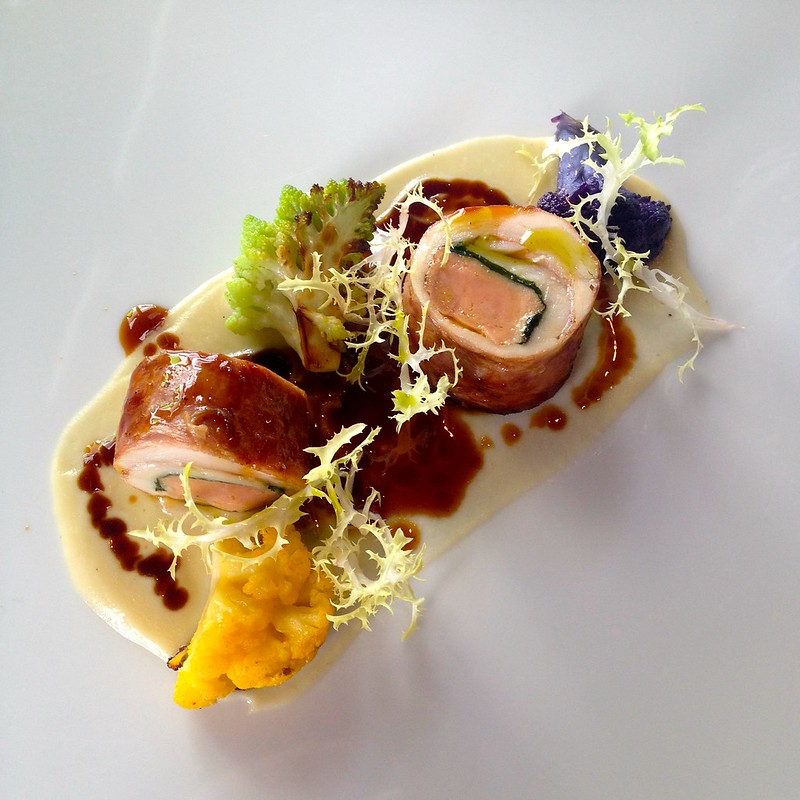 il lido_Chicken, Goose Liver and Parma Ham Roll with Tarragon Sauce