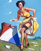 The Final Touch (Keep 'Em Flying) by Gil Elvgren, 1954